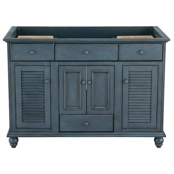 Home Decorators Collection Cottage 48 In X 21 5 8 In Vanity Cabinet Only In Harbor Blue Ctba4822d The Home Depot