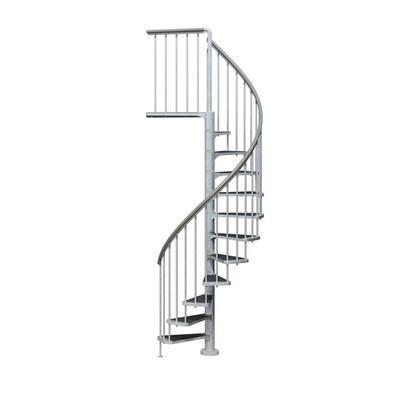 Toronto V3 PE 12 ft. 4 in. Galvanized Stair Kit