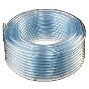 Hydromaxx 3 16 In I D X 1 4 In O D X 100 Ft Crystal Clear Flexible Non Toxic Bpa Free Vinyl Tubing 1403316100 The Home Depot