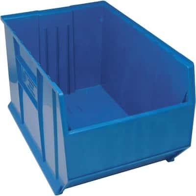 36 in. Quantum Hulk 65 Gal. Storage Tote in Blue (1-Pack)