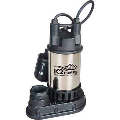 1/2 HP Stainless Steel Sump Pump with Tethered Switch