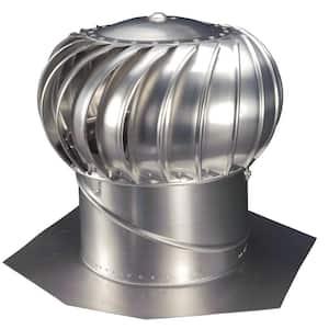12 in. Mill Finish Aluminum Internally Braced Whirlybird Wind Turbine