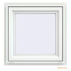 23.5 in. x 23.5 in. V-4500 Series White Vinyl Awning Window with Fiberglass Mesh Screen