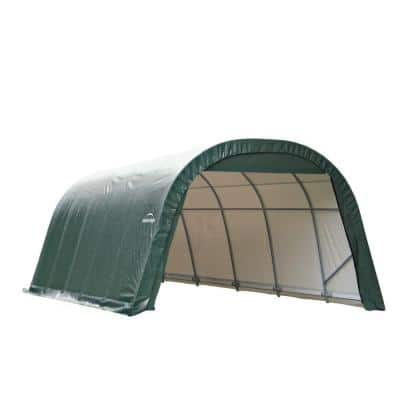 ShelterCoat 12 ft. x 20 ft. Wind and Snow Rated Garage Round Green STD