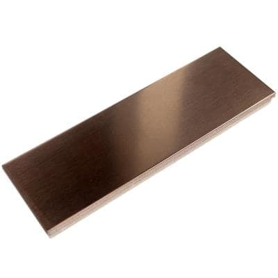 Metal Copper Stainless Steel Floor and Wall Tile - 2 in. x 6 in. x 5 mm Tile Sample