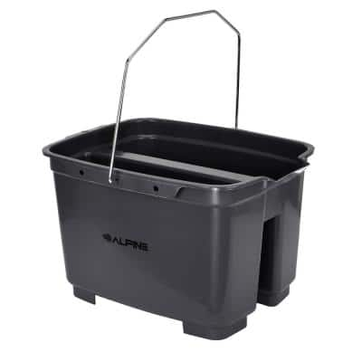 19.5 Qt. Gray Divided Organizer Plastic Cleaning Caddy