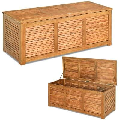 Outdoor Storage Benches Patio, Wood Bench With Storage Outdoor
