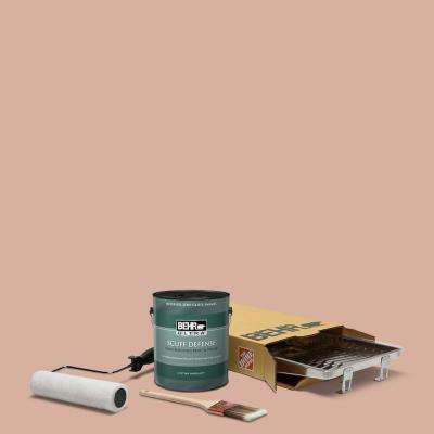1 gal. #S180-3 Flowerpot Extra Durable Semi-Gloss Enamel Interior Paint and 5-Piece Wooster Set All-in-One Project Kit