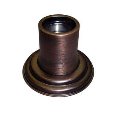 1 in. Decorative Shower Rod Flange in Oil Rubbed Bronze