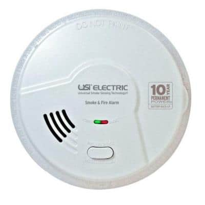 10 Year Sealed Battery Backup, Hardwired, Dual Sensing 2-In-1 Smoke And Fire Detector, Microprocessor Intelligence