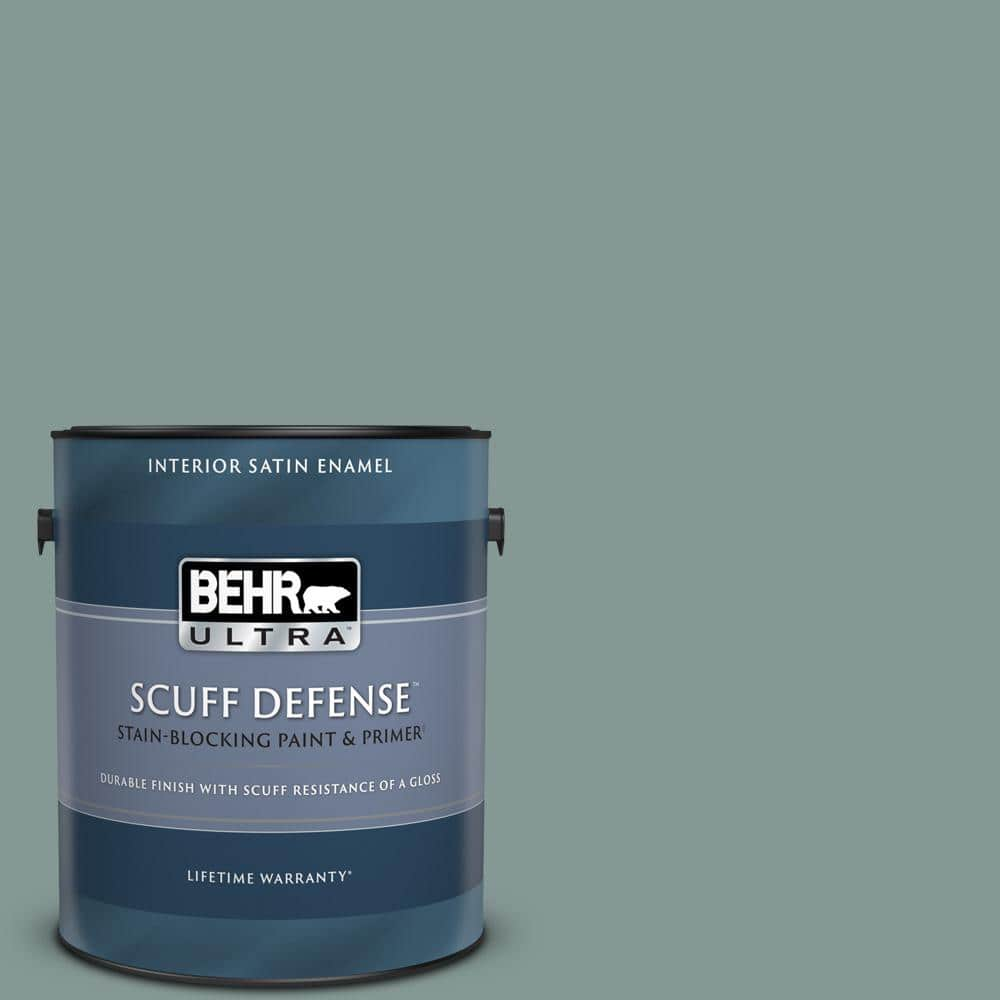 BEHR ULTRA 1 gal. #T18-15 In The Moment Extra Durable Satin Enamel Interior Paint & Primer