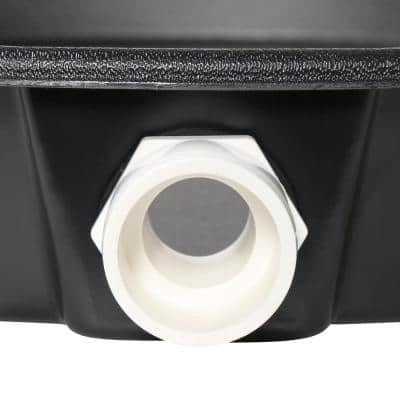 24 in. Plastic Water Heater Pans with PVC Drain Connection (Case of 20)