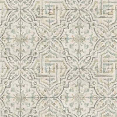 Sonoma Olive Spanish Tile Olive Wallpaper Sample