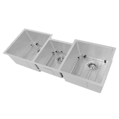 ZLINE Breckenridge 45 in. Undermount Triple Bowl Sink in DuraSnow Stainless Steel with Accessories