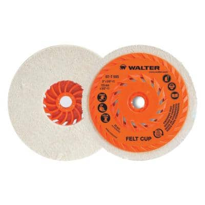 5 in. Felt Cup Disc (5-Pack)