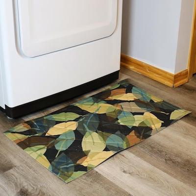 Leafy Green 29.5 in. x 17.5 in. Rubber Kitchen Mat