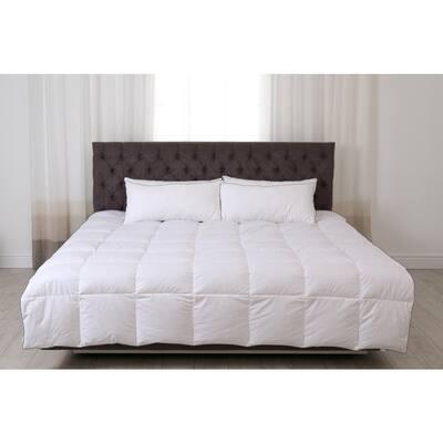 VEGA LIVING Twill Weave Microfiber + 2-Organic Pillow Protector-OEKO-TEX Certified Down Alternative Queen Duvet Insert