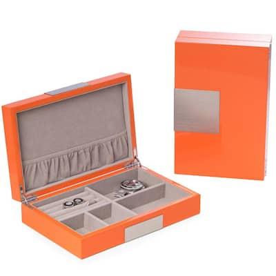 "Lacquered ""Orange"" Wood Valet Box"