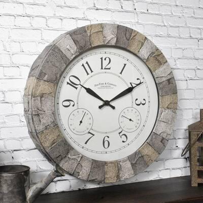 14 in. Stoneybrook Outdoor Clock