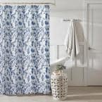 Charlotte Blue Cotton 72in. X 72in. Shower Curtain
