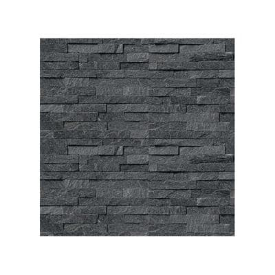 6 in. x 6 in. Coal Canyon Natural Stacked Stone Veneer Siding Sample Swatch