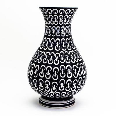 14.5 in. Luxe Cobalt Infinity Flared Globe Vase