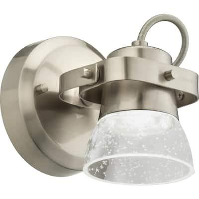 LTFSGLS 5 in. 1-Light Brushed Nickel White Integrated LED Track Lighting Kit