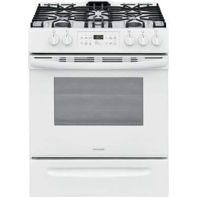 30 in. 5.0 cu. ft. Single Oven Gas Range with Self-Cleaning Oven in White
