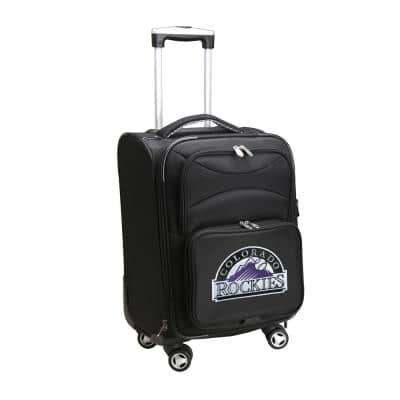 MLB Colorado Rockies Black 21 in. Carry-On Spinner Softside Suitcase
