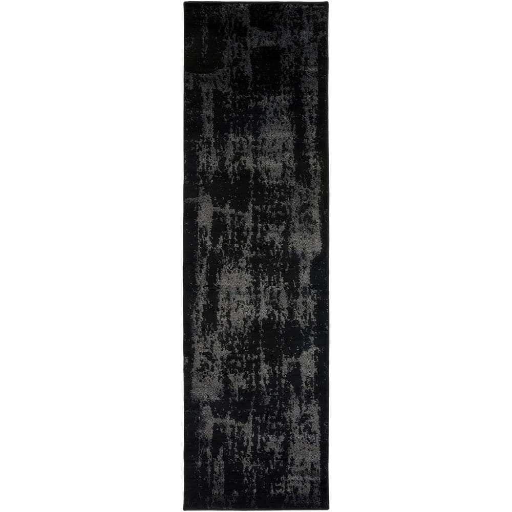 Artistic Weavers Silas Black 2 Ft X 8 Ft Indoor Runner Rug S00151087572 The Home Depot