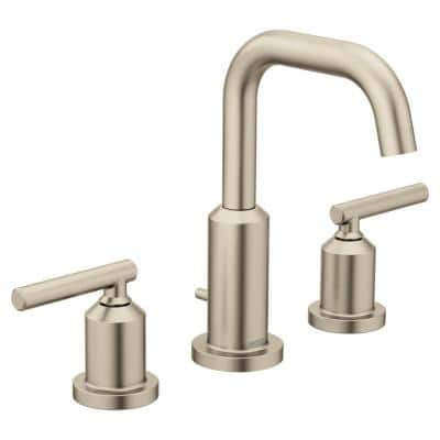 Gibson 8 in. Widespread 2-Handle High-Arc Bathroom Faucet Trim Kit in Brushed Nickel (Valve Not Included)