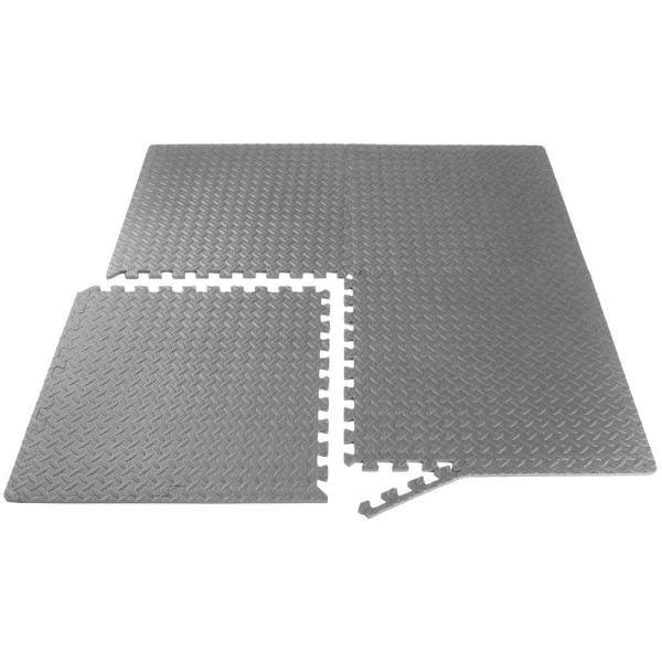 Details about  /3//4 inch Puzzle Mat Grey 24 in 24 sq ft W x 24 in.L Interlocking Eva foam tile