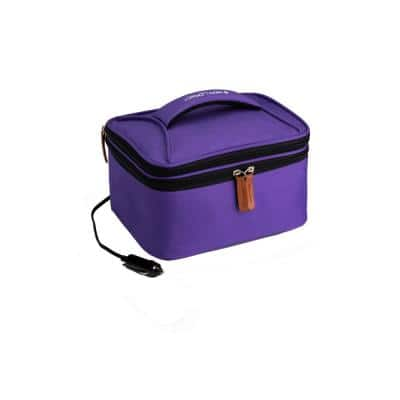 Purple Food Warming Lunch Bag Plus 12-Volt