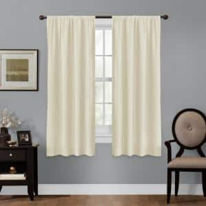 Linen Geometric Thermal Blackout Curtain - 50 in. W x 63 in. L
