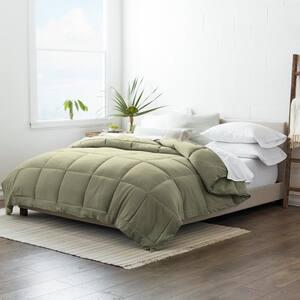 Performance Sage Solid Queen Comforter