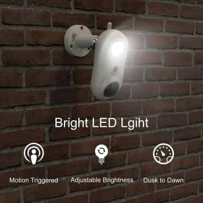 Wired 1080p Indoor/Outdoor Smart HD Spotlight Security Camera with 10 ft. Extension Cable