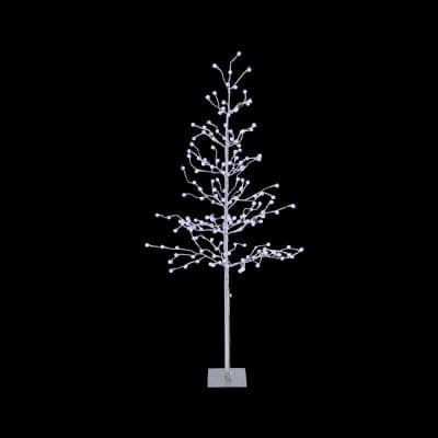 6 ft. H Electric Artificial Tree with Crackle Ball LED Lights