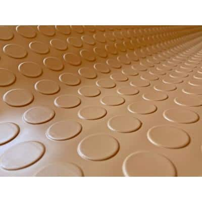 Coin 7.5 ft. x 17 ft. Sandstone Commercial Grade Vinyl Garage Flooring Cover and Protector