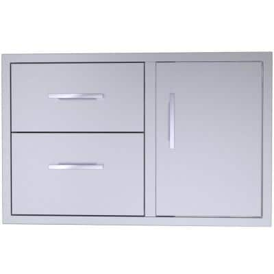 Signature Series 36 in Stainless Steel 2 Drawer Door Combo