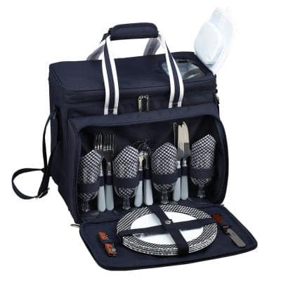 Deluxe Picnic Cooler for 4 in Bold Navy