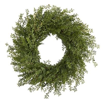 27 in. Mixed Grass Artificial Wreath