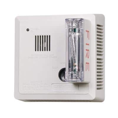 Hardwired Interconnected Photoelectric Smoke Alarm, Ceiling Mount, ADA Strobe with Battery Backup