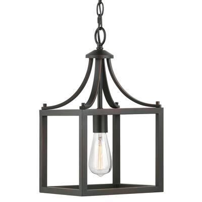 Boswell Quarter 1-Light Distressed Black Mini-Pendant
