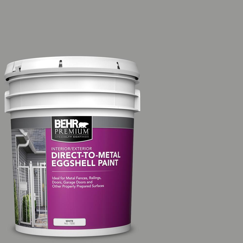 5 gal. #PPU24-19 Shark Fin Eggshell Direct to Metal Interior/Exterior Paint