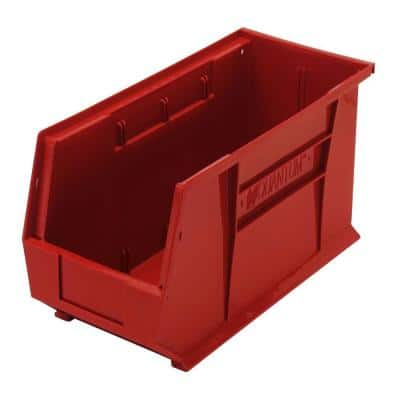 Ultra-Series 5 Gal. Stack and Hang Storage Tote in Red (6-Pack)
