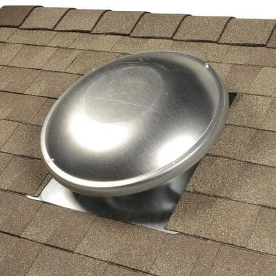 144 sq. in. NFA Galvanized Steel Static Dome Roof Vent in Mill