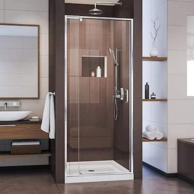 Flex 28 to 32 in. x 72 in. Framed Pivot Shower Door in Chrome