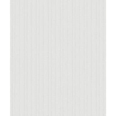 Kinsley Off-White Textured Stripe Strippable Roll (Covers 57.8 sq. ft.)