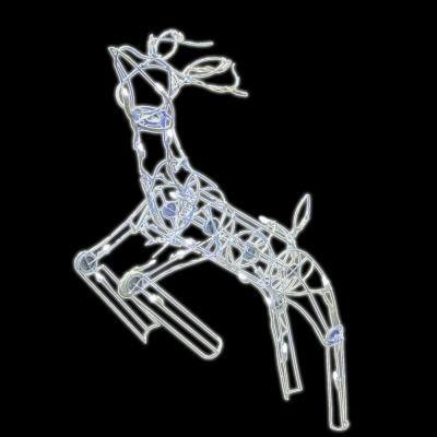 48 in. 105-Light LED Multi Posing Deer Sculpture Wireframe