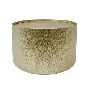 Braeburn 26 in. Gold Medium Round Metal Coffee Table
